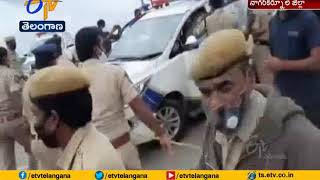 MP Revanth prevented from visiting Srisailam power plant f..