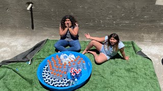 Making a Giant Pool of Slime in our Pool - 50 bottles of fluffy slime in a pool