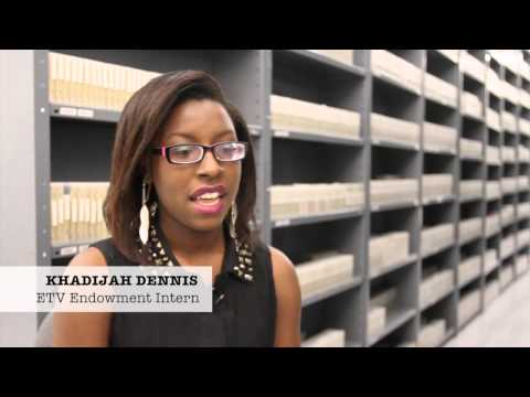 screenshot of youtube video titled 2014 ETV Endowment Interns