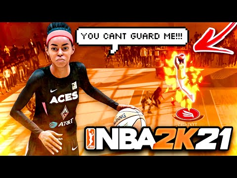 I Unlocked CONTACT DUNKS On My  NEW  Female WNBA Build on NBA 2K21 Next Gen!