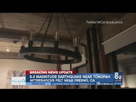Central Nevada rocked by 6.5 earthquake, numerous aftershocks