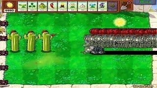 1 Cactus Pea vs 9999 Balloon Zombie Plants vs Zombies