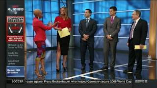 Wendi Nix in Open Cut Skirt and, Um, Josina Anderson | ESPN