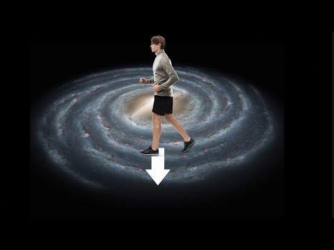 ¿Cuánto tomaría caminar al borde de la galaxia?