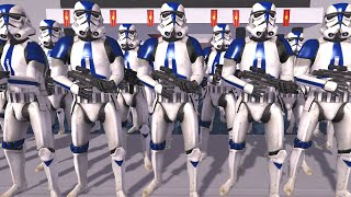 New CLONE STORMTROOPER Army! - Men of War: Star Wars Mod Battle Simulator