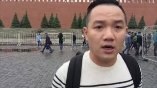 Vlog 33 ( Du Lịch ) - Đất nước Nga xinh đẹp - MC Anh Khoa giới thiệu cung điện Kremlin và St Basil
