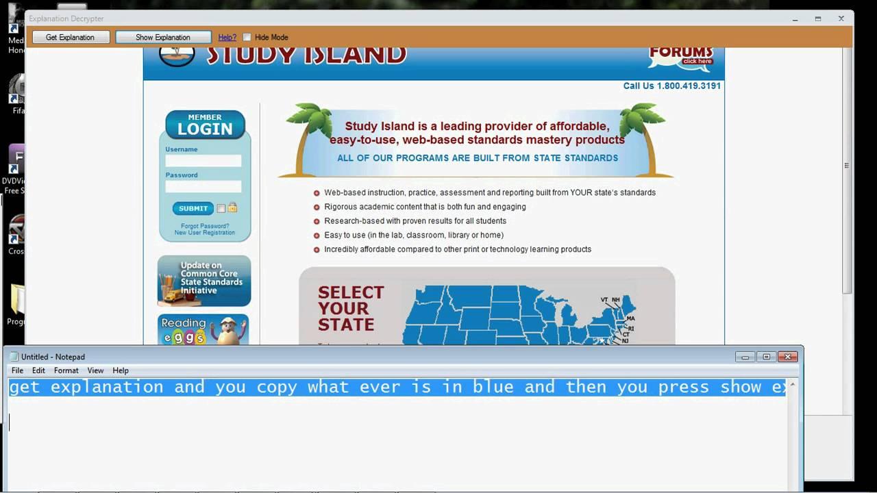 Study Island Hack 2011