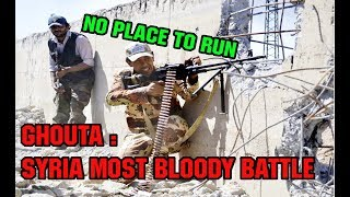 GHOUTA BLOODY URBAN BATTLE. DAMASCUS SYRIA. TIGER FORCES IN ACTION