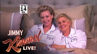 Jimmy Kimmel Surprises Ellen and Portia After the Oscars
