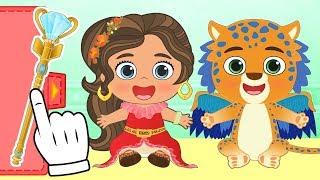 BEBE ALEX Y LILY Se disfrazan de ELENA DE AVALOR   Disfraz de Disney Princesas   Dibujos educativos