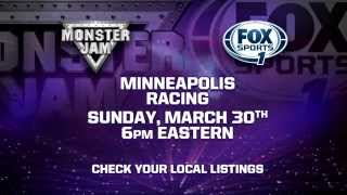 Monster Jam On FOX Sports 1 Preview - March 30, 2014 - Minneapolis, MN