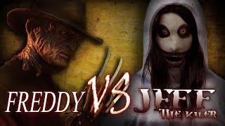 Freddy Krueger vs Jeff the Killer Epic Horror Battles | Creepypasta meets Nightmare on Elm Street