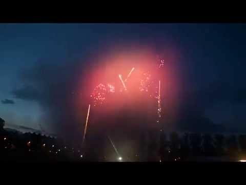Sports Themed Fireworks Display