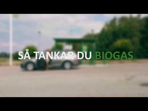 Så tankar du biogas