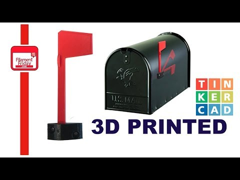 3D Printed Universal Mailbox Flag using Tinkercad