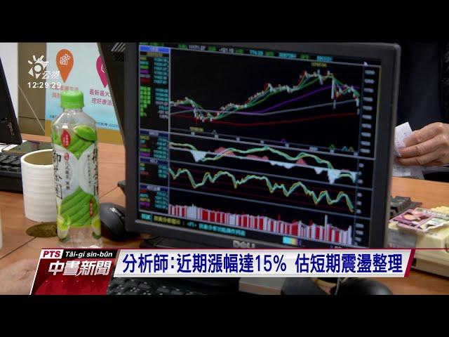 台股今走勢震盪 指數一度跌破14200點