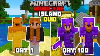 We Survived 100 Days In Hardcore Minecraft On An Island.
