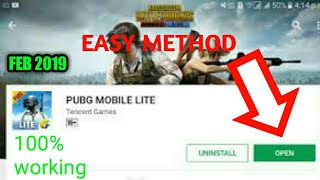 Download pubg mobile lite from play store |Feb 2019|