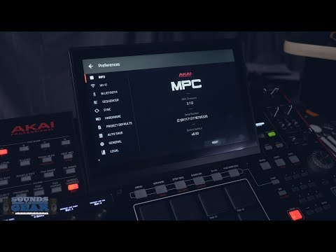 Akai MPC 2.1 - Updating the Firmware On The MPC X or MPC Live