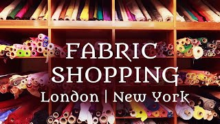 NYC & London Fabric Shopping Adventures & New Project Announcement!
