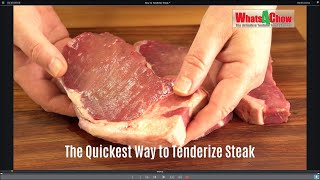 The Quickest Way to Tenderize Steak - How to Tenderize Steak with a Meat Mallet