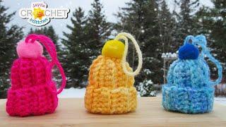 Miniature Winter Hat Ornament - Crochet Pattern & Tutorial