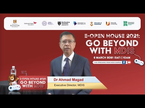 MDIS E-Open House 2021 - Opening Message by MDIS Executive Director