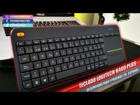 ☑️TECLADO INALAMBRICO LOGITECH K400 PLUS 2020, Desempaquetado y revisado de sus funciones y software