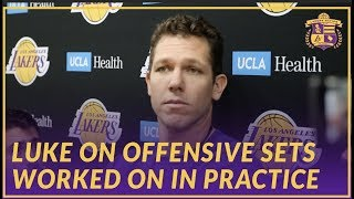Lakers Interview: Luke Walton Talks About the Offensive Focus In Practice Today