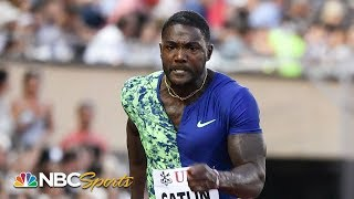 Justin Gatlin continues to defy Father Time in Diamond League 100 Meters | NBC Sports