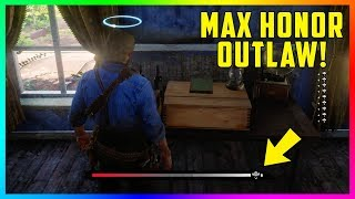 How To Become A 100% MAX Level Honorable Outlaw FAST & EASY In Red Dead Redemption 2! (RDR2 Honor)