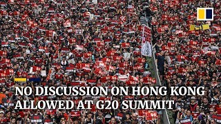 China 'will not allow' G20 discussion on Hong Kong extradition bill