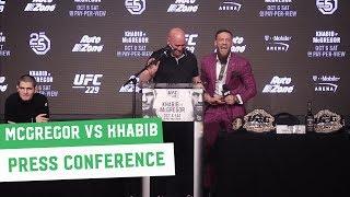 Conor McGregor vs. Khabib Nurmagomedov || Full Press Conference