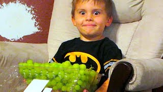 CAUGHT EATING ALL THE GRAPES!