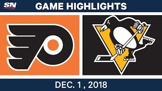 NHL Highlights | Flyers vs. Penguins - Dec 1, 2018