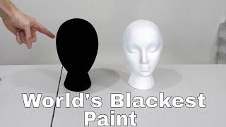 The New World's Blackest Paint (Black 3.0) vs the Brightest Flashlight!