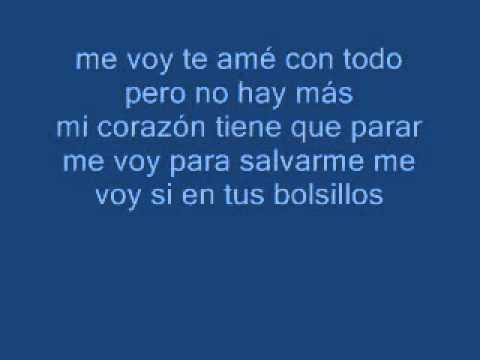Me voy - Andres Cepeda (Letra)