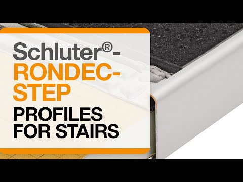 How to install tile trim on stairs: Schluter®-RONDEC-STEP profile