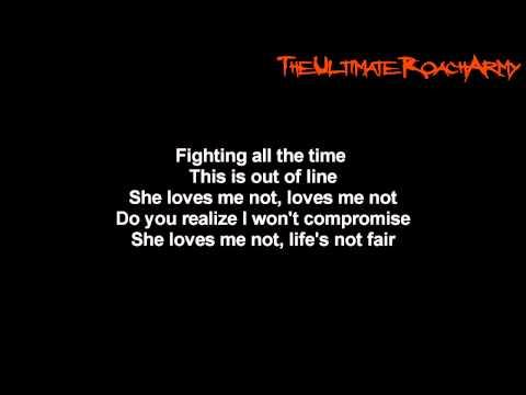 Papa Roach - She Loves Me Not {Lyrics on screen} HD