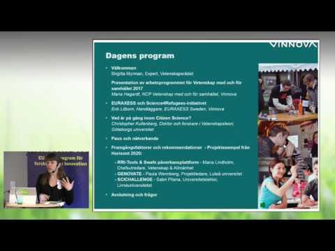 Vetenskap med och för samhället 01 Inledning och programpresentation, 170329