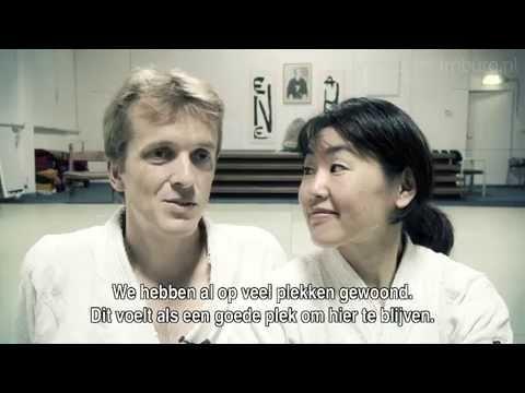 aikido-beoefenaars Robert en Mitchy
