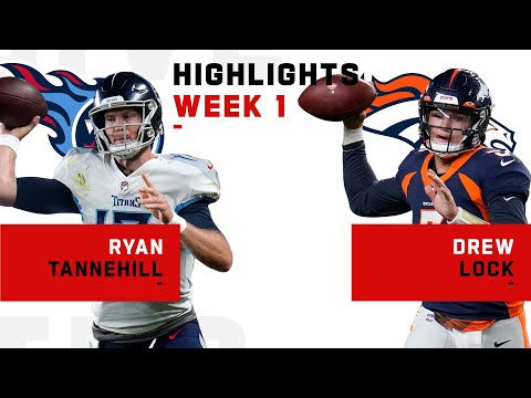 Ryan Tannehill vs. Drew Lock QB Duel   NFL 2020 Highlights