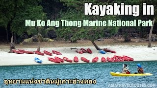 Kayaking in Mu Ko Ang Thong National Park