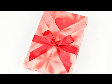 Japanese Gift Wrapping Kimono Style With A Heart Shaped