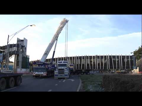 Yaamba Road Pedestrian Overpass Truss Erection -1