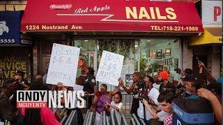 Tiệm Nail Brooklyn New York -biểu tình không cho mở tiệm - Happy Red Apple Nail【A573】HD