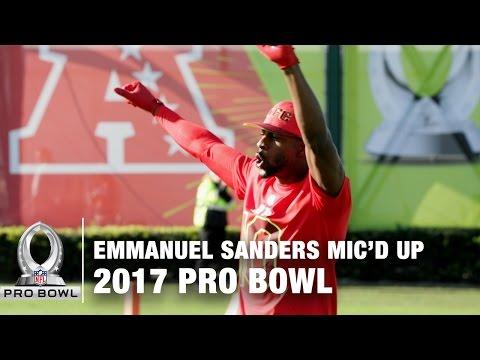 Emmanuel Sanders Mic'd Up at the 2017 Pro Bowl Practice | NFL