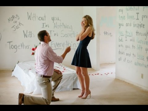 He Painted Every Room in their First Home with a Love Note then Proposed