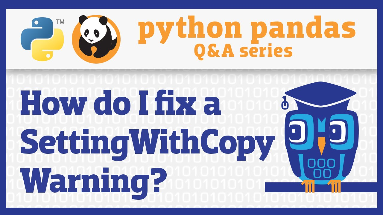 Image from How do I avoid a SettingWithCopyWarning in pandas?