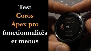 vidéo test Coros Apex par Montre cardio GPS